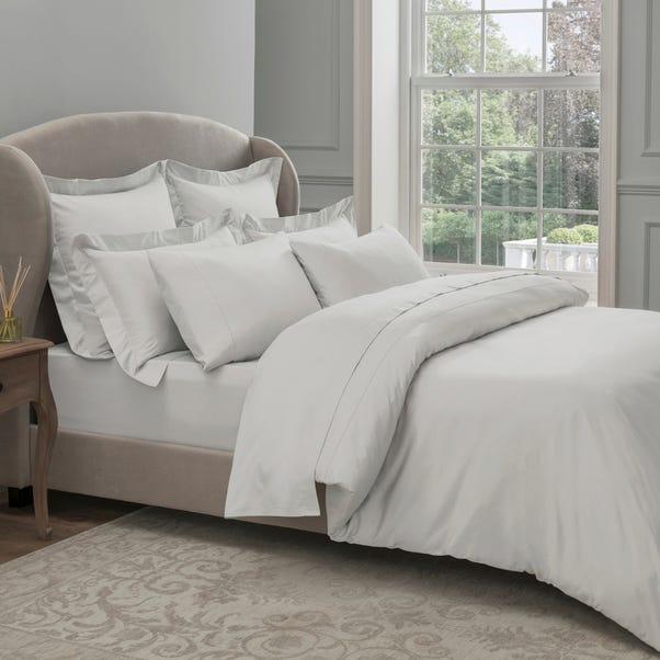 Dorma 300 Thread Count 100% Cotton Sateen Plain White Duvet Cover  undefined