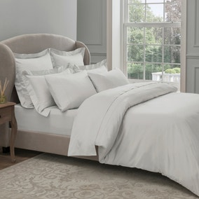 Dorma 300 Thread Count 100% Cotton Sateen Plain White Duvet Cover