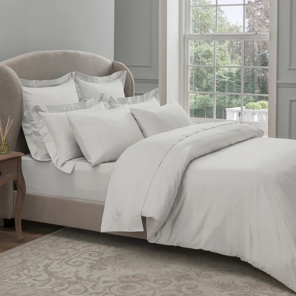 Dorma 300 Thread Count 100% Cotton Sateen Plain White Duvet Cover  undefined