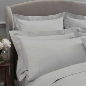 Dorma 300 Thread Count 100% Cotton Sateen Plain White Cuffed Pillowcase