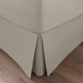 Dorma 300 Thread Count 100% Cotton Sateen Plain Cream Pleated Valance