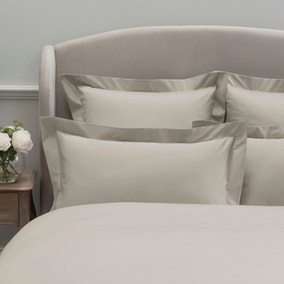 Dorma 300 Thread Count 100% Cotton Sateen Plain Cream Oxford Pillowcase