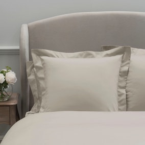 Dorma 300 Thread Count 100% Cotton Sateen Plain Cream Continental Square Pillowcase