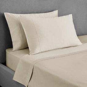 Dorma 300 Thread Count 100% Cotton Sateen Plain Cuffed Pillowcase
