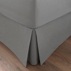 Dorma 300 Thread Count 100% Cotton Sateen Plain Silver Pleated Valance