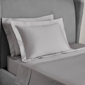 Dorma 300 Thread Count 100% Cotton Sateen Plain Silver Kingsize Oxford Pillowcase