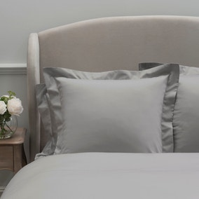 Dorma 300 Thread Count 100% Cotton Sateen Plain Silver Continental Square Pillowcase
