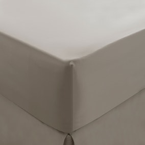 Dorma 300 Thread Count 100% Cotton Sateen Plain Fitted Sheet