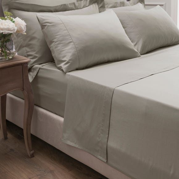 Dorma 300 Thread Count 100% Cotton Sateen Plain Flat Sheet Natural undefined