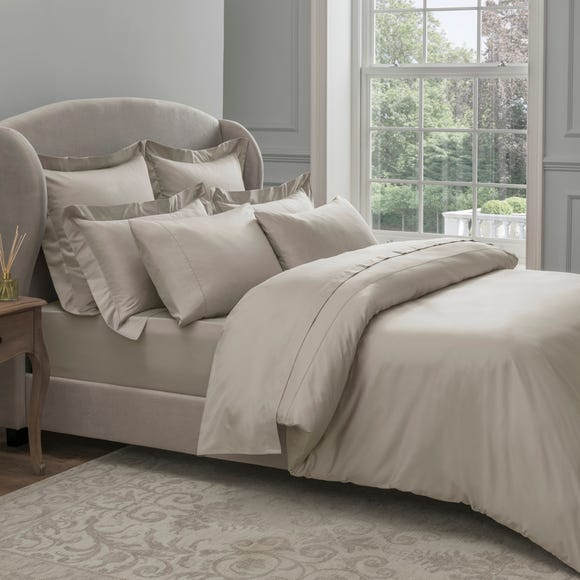 Dorma 300 Thread Count 100% Cotton Sateen Plain Natural Duvet Cover  undefined
