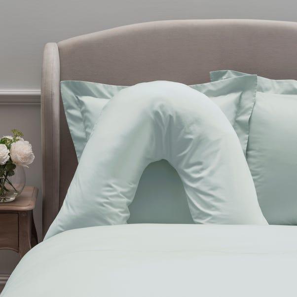 Dorma 300 Thread Count 100% Cotton Sateen Plain Seafoam V-Shaped Pillowcase
