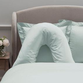 Dorma 300 Thread Count 100% Cotton Sateen Plain V-Shaped Pillowcase