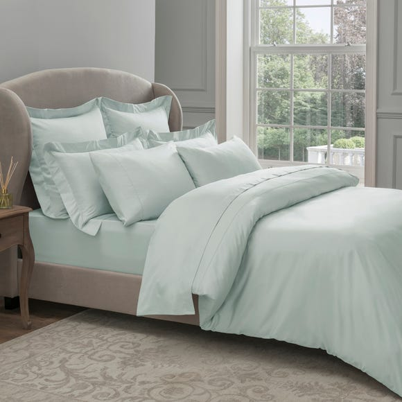 Dorma 300 Thread Count 100% Cotton Sateen Plain Seafoam Duvet Cover Seafoam undefined