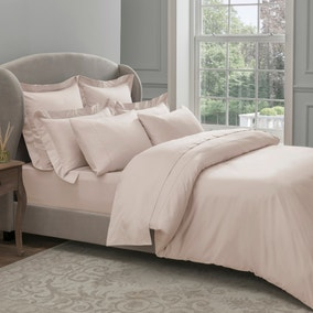Dorma 300 Thread Count 100% Cotton Sateen Plain Blush Duvet Cover