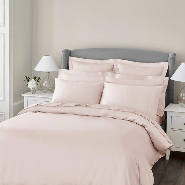 Dorma 300 Thread Count 100% Cotton Sateen Plain Blush Duvet Cover  undefined