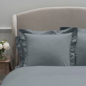Dorma 300 Thread Count 100% Cotton Sateen Plain Denim Continental Square Pillowcase