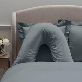 Dorma 300 Thread Count 100% Cotton Sateen Plain Denim V-Shaped Pillowcase