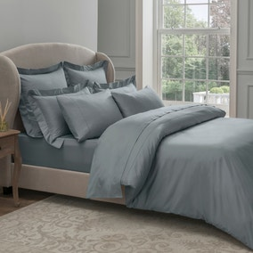 Dorma 300 Thread Count 100% Cotton Sateen Plain Denim Duvet Cover