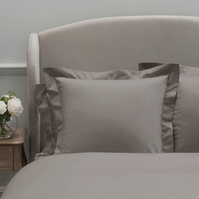 Dorma 300 Thread Count 100% Cotton Sateen Plain Mink Continental Square Pillowcase