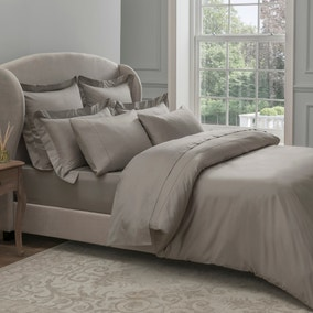 Dorma 300 Thread Count 100% Cotton Sateen Plain Mink Duvet Cover