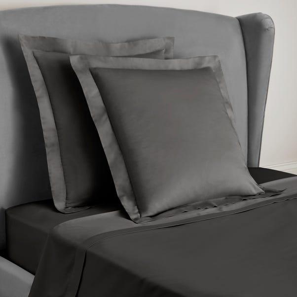 Dorma 300 Thread Count 100% Cotton Sateen Plain Slate Continental Square Pillowcase