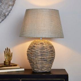 Lari Split Weave Wicker Table Lamp