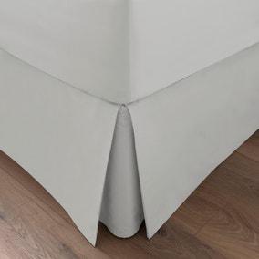 Dorma 300 Thread Count 100% Cotton Sateen Plain White Pleated Valance