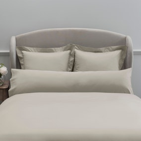 Dorma 300 Thread Count 100% Cotton Sateen Plain Cream Bolster Pillowcase