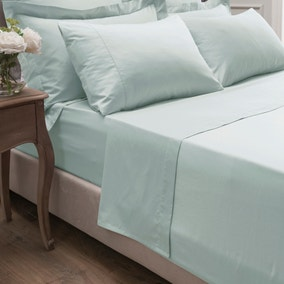 Dorma 300 Thread Count 100% Cotton Sateen Plain Flat Sheet