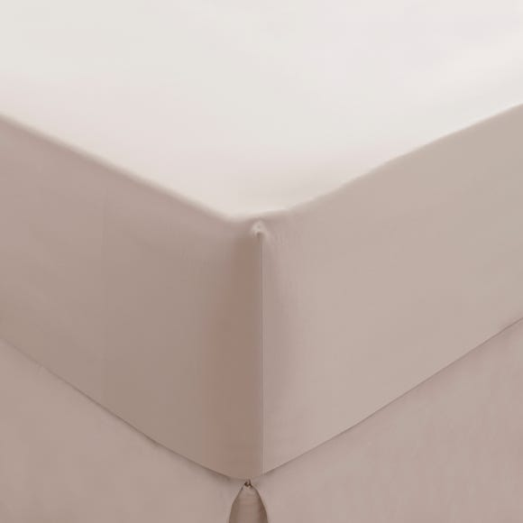 Dorma 300 Thread Count 100% Cotton Sateen Plain Fitted Sheet Blush undefined