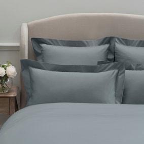 Dorma 300 Thread Count 100% Cotton Sateen Plain Denim Oxford Pillowcase