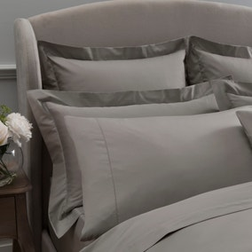 Dorma 300 Thread Count 100% Cotton Sateen Plain Mink Cuffed Pillowcase