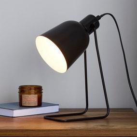 Sivas Leaning Wire Black Task Desk Lamp