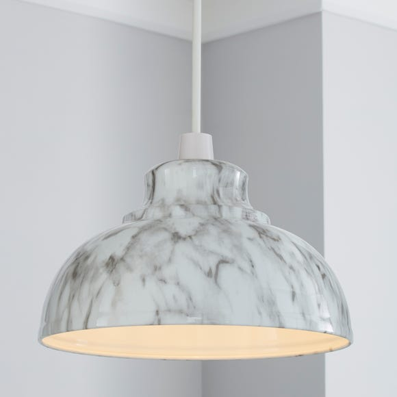 Galley Marble Effect Easy Fit Pendant Grey