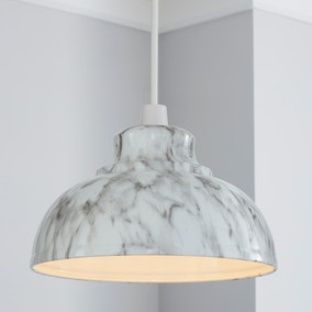 Galley Marble Effect Easy Fit Pendant