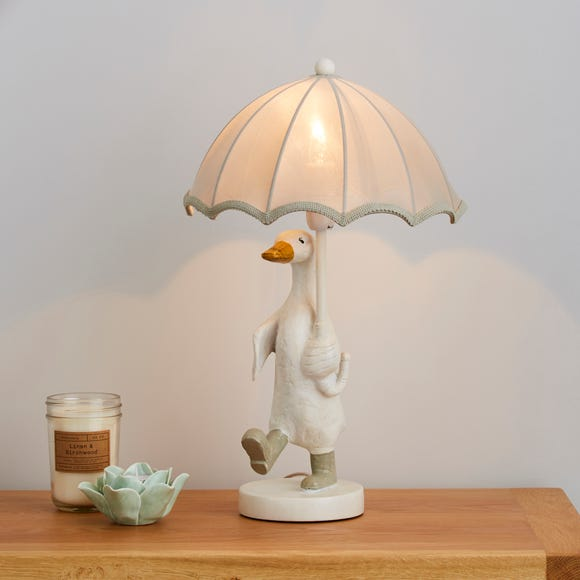 Darcy Resin Duck White Table Lamp White