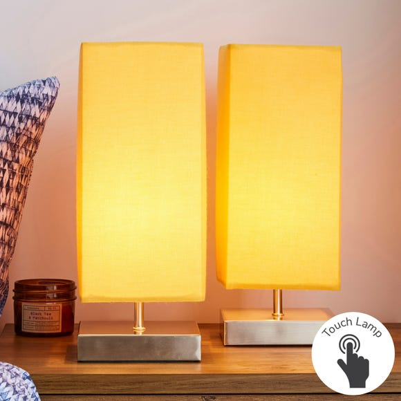 Charlotte Touch Dimmable Ochre Table Lamps Ochre