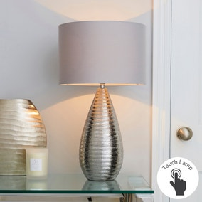 Costola Chrome Touch Dimmable Table Lamp