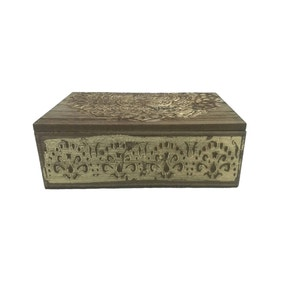 Carved Wooden Storage Box