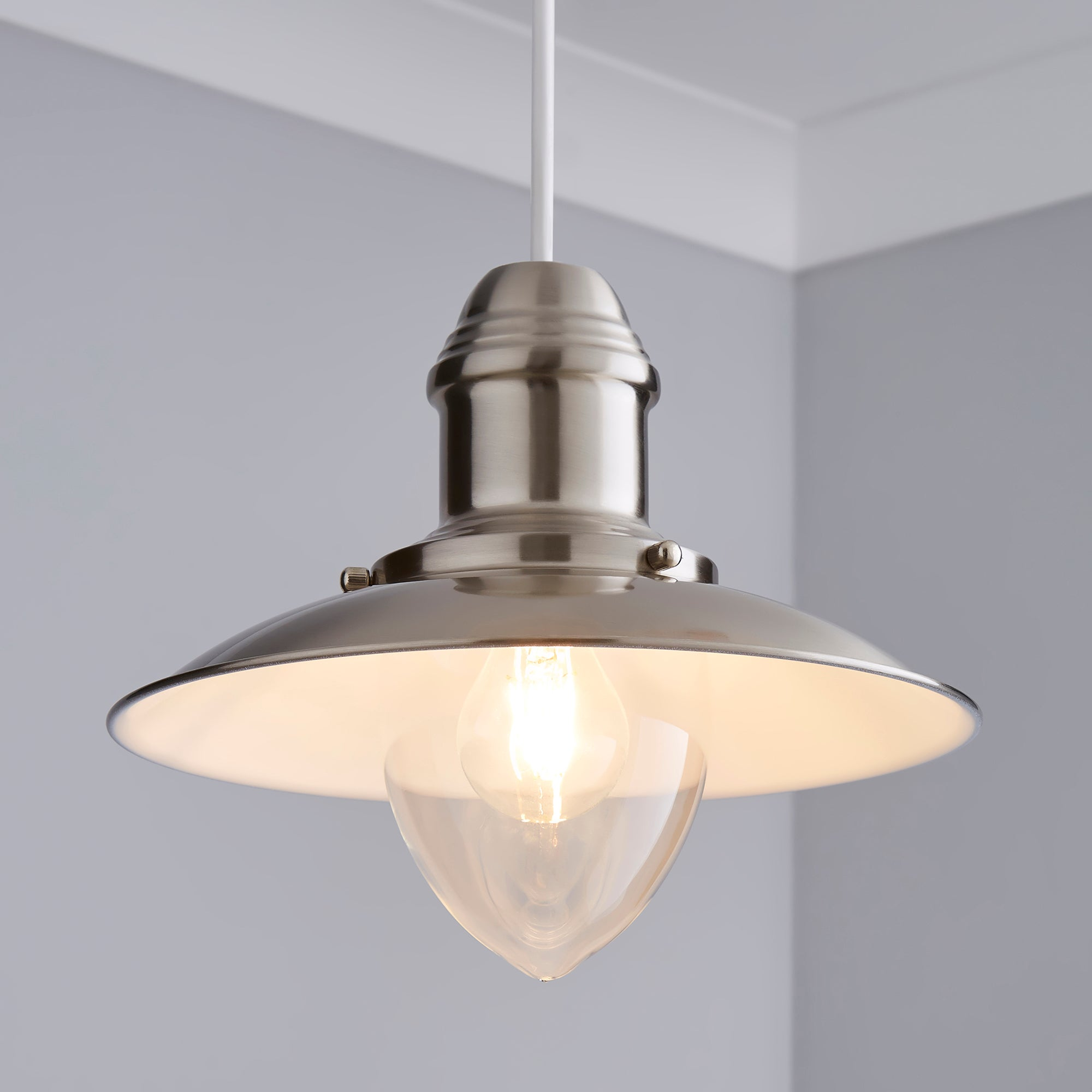 Click to view product details and reviews for Masso Nickel Easy Fit Pendant Satin Nickel.