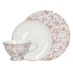 Katie Alice Ditsy Floral White Afternoon Tea Set