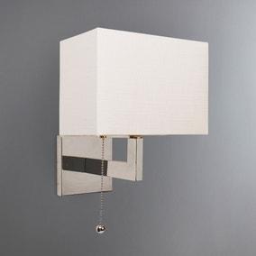 Satu Rectangular Metal White Wall Light
