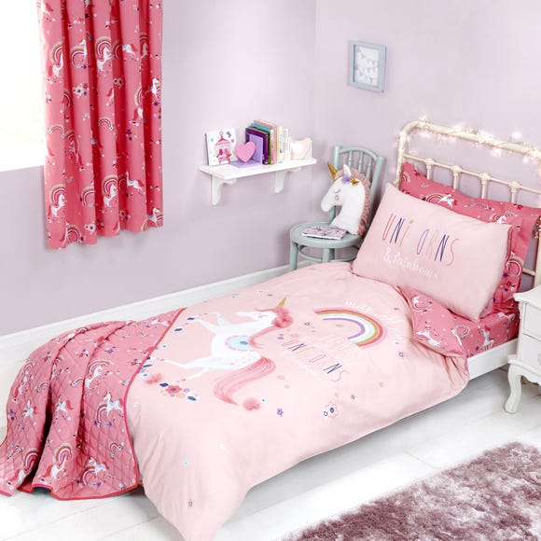 Unicorn Duvet Cover and Pillowcase Set  undefined