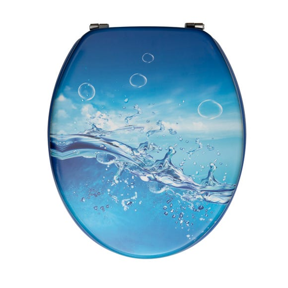Splash Toilet Seat Blue