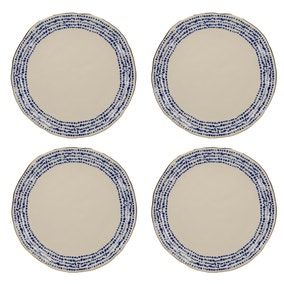 Set of 4 Mikasa Azores Speckle Dinner Plates