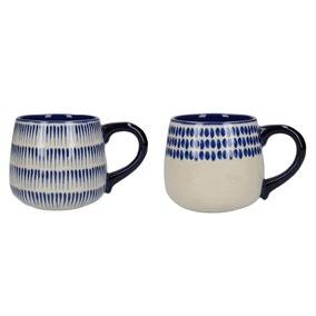 Set of 2 Mikasa Azores Spot Dash Mugs