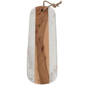Naturals Long Marble Acacia Serve Board