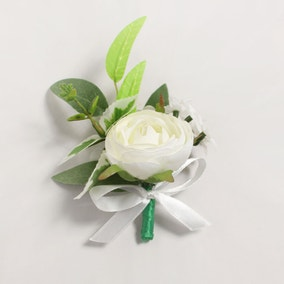Artificial Camellia Cream Button Hole 10cm