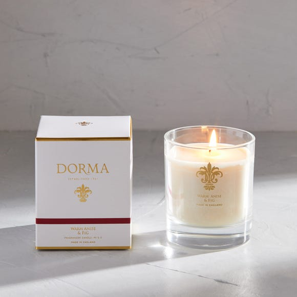 Dorma Warm Anise and Fig Wax Fill Candle White