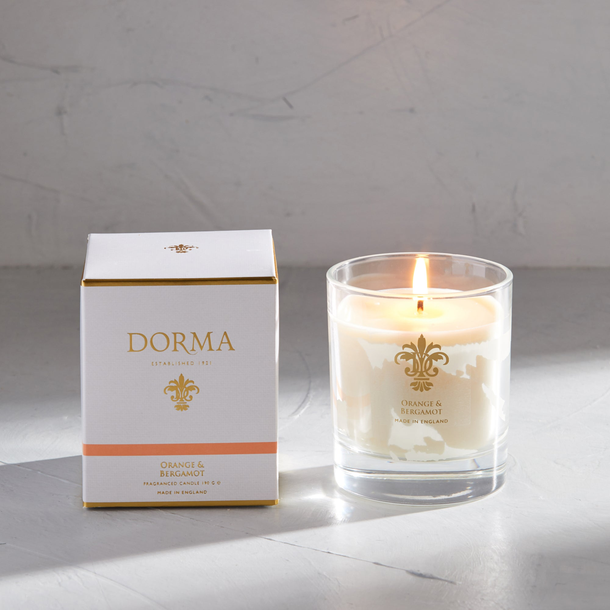 Click to view product details and reviews for Dorma Orange And Bergamot Wax Fill Candle White.